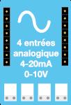 capteur connecté ewattch - capteur 4-20mA - capteur 0-10V - capteur entrées analogiques