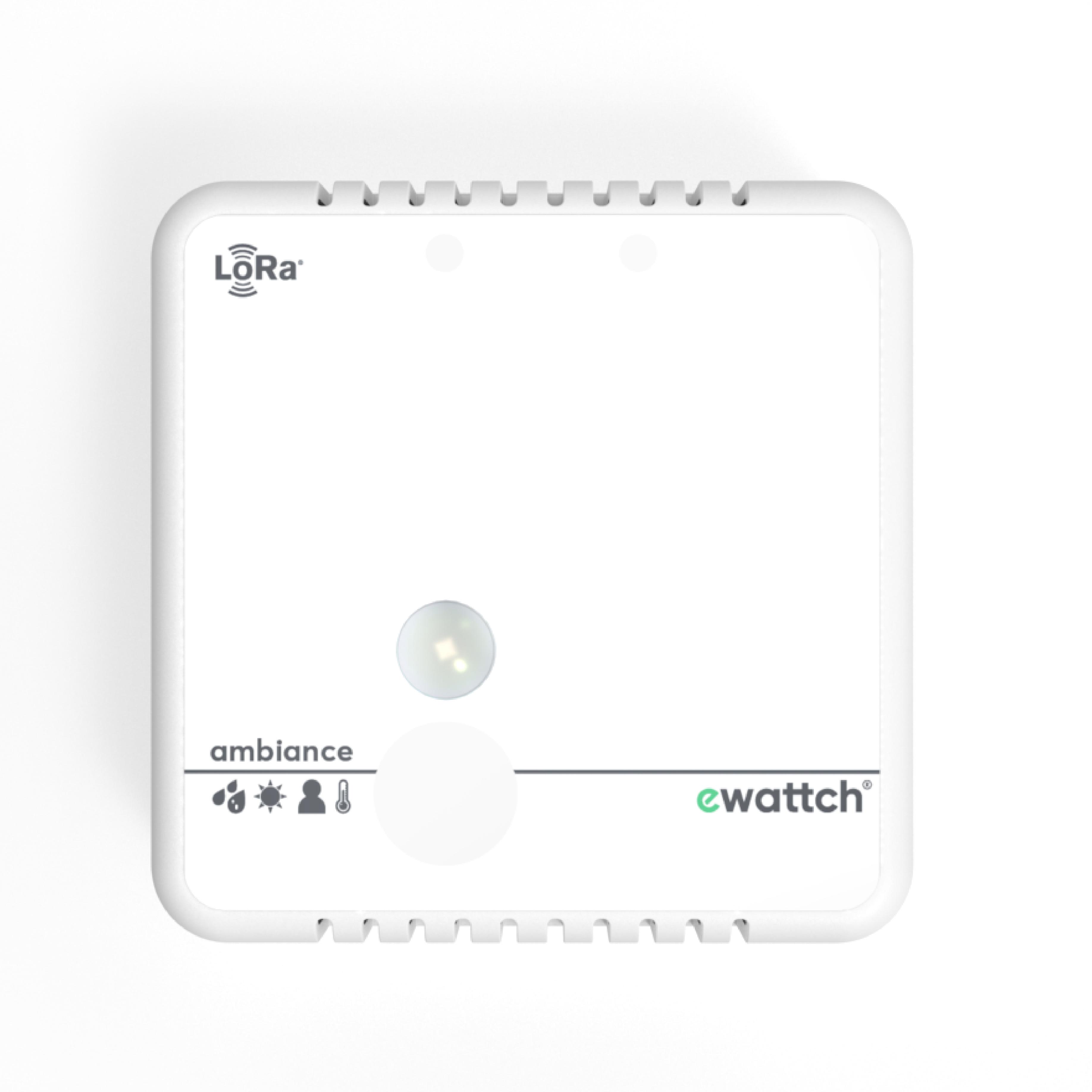 Capteur Ambiance - mesure de température - capteur de luminosité - mesure d'humidité - détection présence - capteur Lora - capteur Lorawan