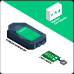 Tyness modular - Comptage optique - comptage impulsionnel